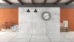 Empty Loft interior Stock Illustration