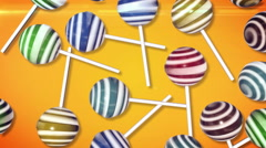 Candy on stick Stock Footage