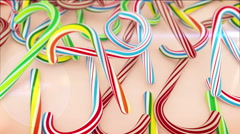 Christmas Candy Canes Stock Footage