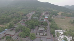 Aerial view of the famous Shaolin temple complex in Henan, China Stock Footage