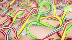 Candy Canes for Christmas Stock Footage