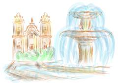 Cusco Stock Illustration