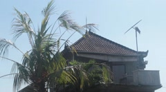 Roof of a House in Bali Stock Footage