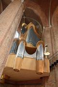 Organ of Marktkirche church in Hanover. Stock Photos