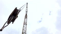 Construction crane. Stock Footage