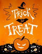 Trick or Treat Halloween poster Stock Illustration