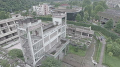 Collapsed school, tragic reminder of devastating Wenchuan earthquake in China Stock Footage