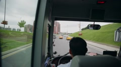 Bus trip to Istanbul, view from the window Stock Footage