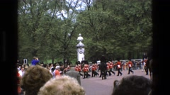 1969: british security walking down the street ENGLAND Stock Footage