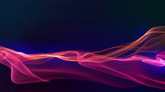 Glowing Deep Magenta-Red Plasma Stream. Stock Footage