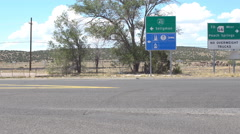 Route 66 in Seligman, Arizona Stock Footage