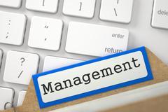 Card Index with Management. 3D Illustration Stock Illustration