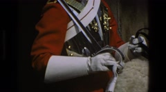 1969: guard on horse ENGLAND Stock Footage