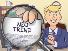 New Trend through Lens. Doodle Design Stock Illustration