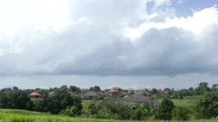 Taymlaps Clouds Over the Buildings Stock Footage