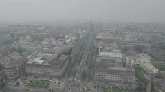 Aerial view of the inner (walled) city of Xi'an in China Stock Footage