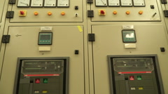 Switchgear and power switches in a power electric substation Stock Footage