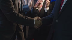 Politicians Greeting Each Other Stock Footage