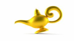 Aladdin lamp enter the scene Stock Footage
