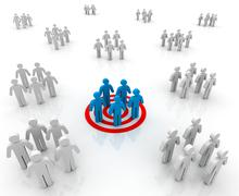 Target group concept  3d illustration Stock Illustration