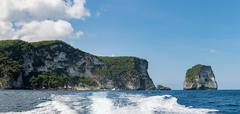 Nusa penida island in bali indonesia view panorama landscape Stock Photos