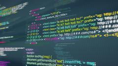 Code, HTML web programming  background Stock Illustration