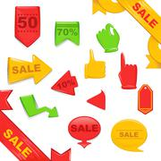 Sale Stickers And Banners Templates Set Stock Illustration