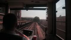 Front view of u-bahn train in Berlin Stock Footage