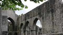 Sligo Abbey (Mainistir Shligigh) Runis in Ireland Built in 1253AD Stock Footage
