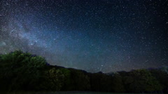 Milky Way Galaxy at Night. Meteor Shower Time lapse. Stock Footage