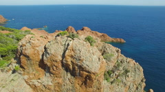 France, Aerial view of cap Esterel Stock Footage