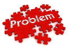 Problem puzzle concept  3d illustration Stock Illustration