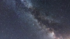 Milky Way Galaxy. Milky Way Time lapse.  Stock Footage