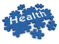 Health puzzle concept  3d illustration Stock Illustration