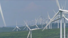 Wind energy is a clean form of generating electricity. Stock Footage