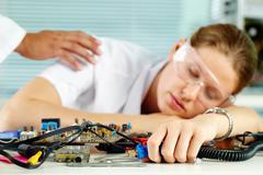 Wake up, colleague Stock Photos
