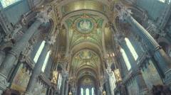 Basilique Notre Dame De Fourviere Stock Footage