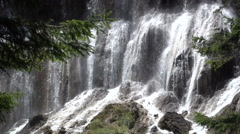 Slow motion video of a waterfall in the Jiuzhaigou national park in China Stock Footage