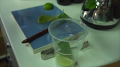 Process for preparing non-alcoholic mojito Stock Footage