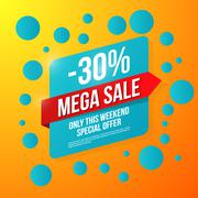 Sale vector, special offer 30 off Stock Illustration