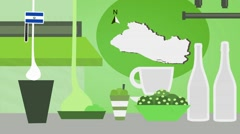 El Salvador - Restaurant - Food and Drinks - green Stock Footage
