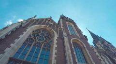 Church Of St. Elizabeth In Lviv Stock Footage