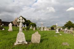Old celtic cemetery graveyard in ireland Kuvituskuvat