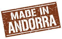 Made in Andorra stamp Stock Illustration