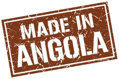 Made in Angola stamp Stock Illustration