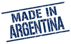 Made in Argentina stamp Stock Illustration