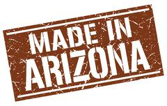 Made in Arizona stamp Stock Illustration