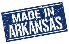 Made in Arkansas stamp Stock Illustration