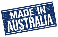 Made in Australia stamp Stock Illustration