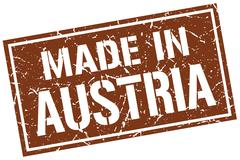 Made in Austria stamp Stock Illustration
